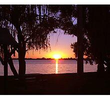 Cabin sunset Photographic Print