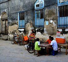 Caram Board Players (Zanzibar) by Afzal Ansary FRPS