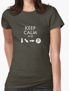 Keep Calm and Fireball Womens Fitted T-Shirt