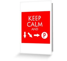 Keep Calm and Fireball Greeting Card