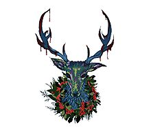 Deck the RavenStag with Boughs of Holly Photographic Print