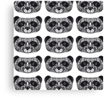Panda on white background hand-drawing head Canvas Print
