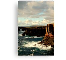 Cliffs Of Eshaness Canvas Print