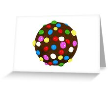 Chocolate Candy Color Ball Greeting Card