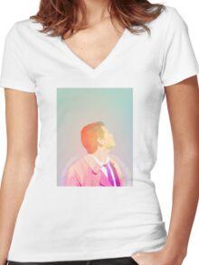 Castiel Angel Supernatural Pastel Women's Fitted V-Neck T-Shirt