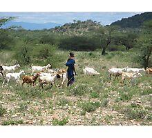 Samburu farmer Photographic Print