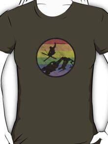 skiing 1 distressed T-Shirt