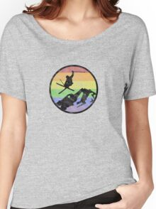 skiing 1 distressed Women's Relaxed Fit T-Shirt