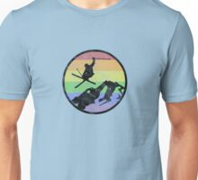 skiing 1 distressed Unisex T-Shirt