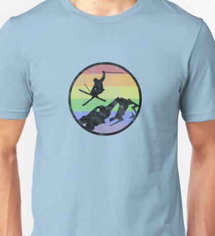 skiing 1 distressed Unisex T-Shirt