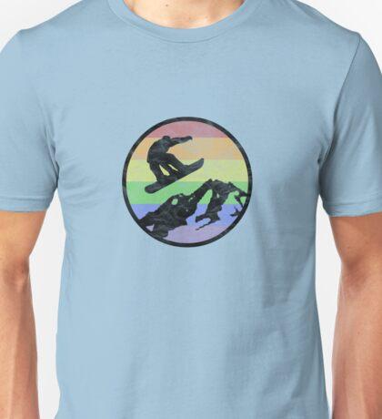 Snowboarding 1 distressed Unisex T-Shirt