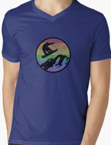 Snowboarding 1 distressed Mens V-Neck T-Shirt