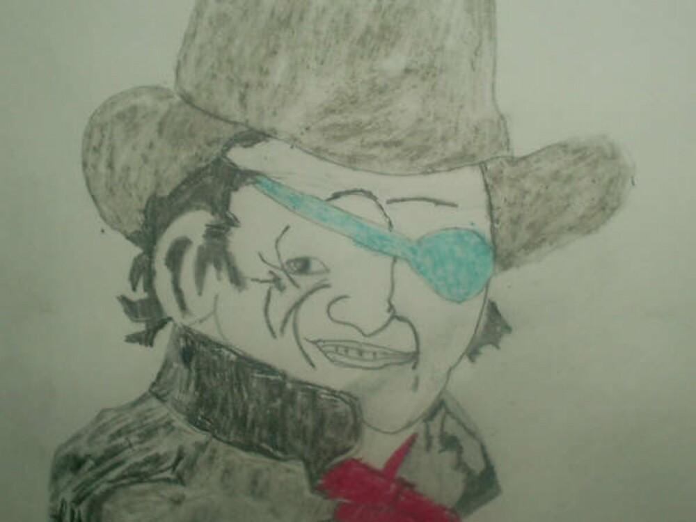 drawing of john wayne by oilersfan11