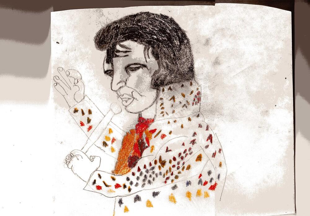 elvis drawing by oilersfan11