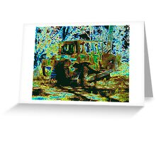 Green to brown Greeting Card
