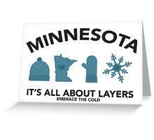 Minnesota Layers Greeting Card