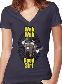 Wub, Wub, Good Sir! Women's Fitted V-Neck T-Shirt