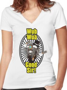 Wub, Wub, Good Sir! Women's Fitted V-Neck T-Shirt