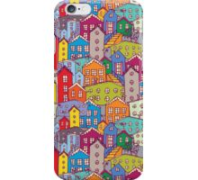 Cityscape seamless pattern. Sketch.  iPhone Case/Skin