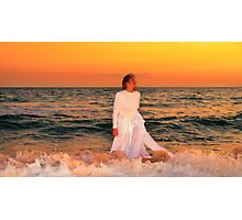 Sunset Bride Photographic Print