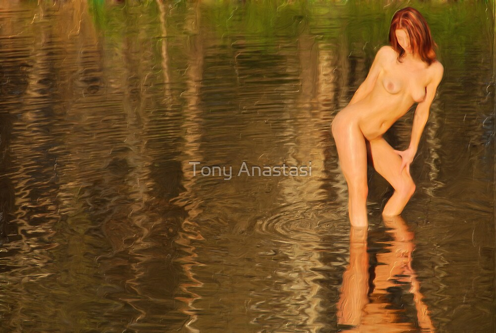 Pond Lady by Tony Anastasi