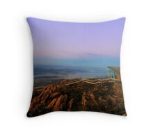 Hobart From Mt Wellington Throw Pillow