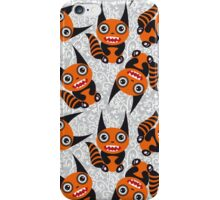 Cute cartoon orange monster iPhone Case/Skin