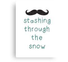 Stashing Through The Snow Canvas Print