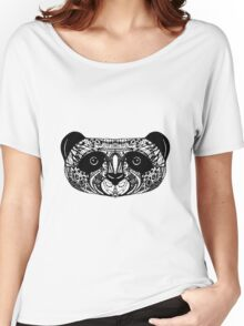 Panda on white background. doodle Women's Relaxed Fit T-Shirt