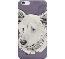 Shepherd. Sketch drawing. Black contour on a purple grunge background. iPhone Case/Skin
