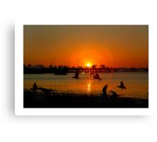 st kilda beach sunset Canvas Print