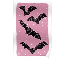 Batty in Rose Poster
