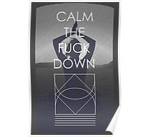 Calm The Fuck Down Poster