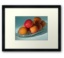 Dish of Delicious Apricots Framed Print