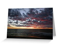Kalbarri Beach Sunset  Greeting Card