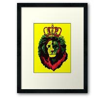 Reggae Rasta Lion. Framed Print