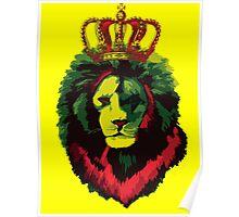 Reggae Rasta Lion. Poster