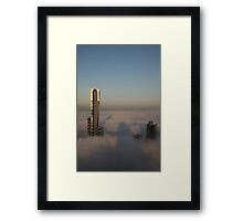 shadows and fog Framed Print