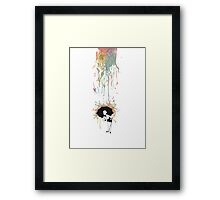 Umbrella Girl. Framed Print