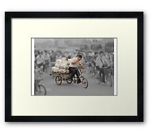 The delivery man Framed Print