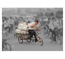 The delivery man Photographic Print