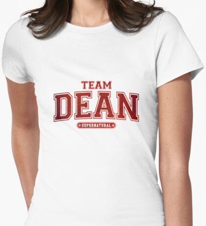 Team Dean Winchester Supernatural  Womens Fitted T-Shirt