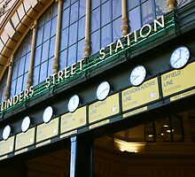 Flinders Street Station - Melbourne - Victoria by Erin McMahon