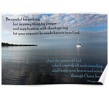 Peace of God - Philippians 4:6,7 Poster