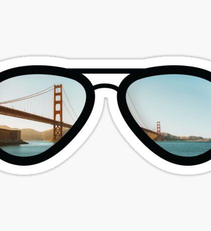 San Francisco - Skyline Sunglasses Sticker