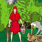Do You Have Any Treats in Your Basket Red Riding Hood by Dennis Melling
