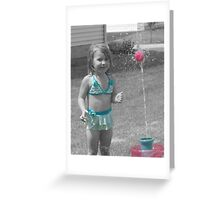 Sprinkler Greeting Card