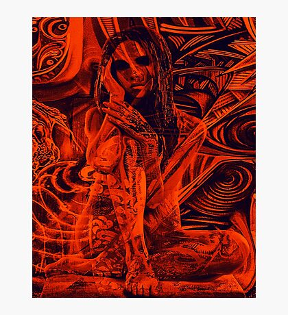 Red girl Photographic Print