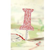 Paper Towns Typography Photographic Print