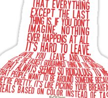 Paper Towns Typography Sticker